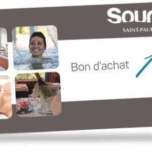 Bon d'achat de 10 euros valabe à l'espace aqualudique Sourcéo de Saint-Paul-lès-Dax
