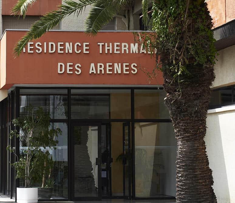 Présentation de la station thermale des Arènes, située à Dax, proposant une cure thermale rhumatologie ou phlébologie