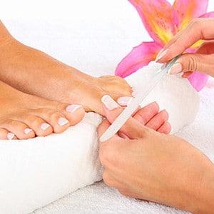 Photo illustrant le soin Beauté des pieds Express, proposé dans notre Spa, intégré au complexe Sourcéo de Saint-Paul-lès-Dax