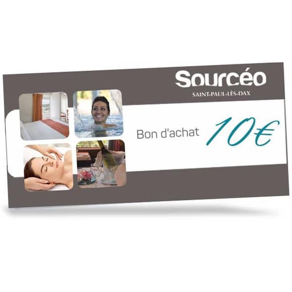 Bon achat Sourcéo : 10€