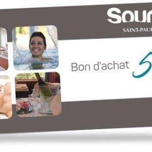 Bon d'achat de 50€ valable à l'Espace Aqualudique Sourcéo de Saint-Paul-lès-Dax