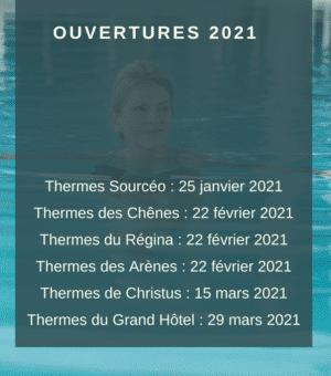 DATES D'OUVERTURE 2021